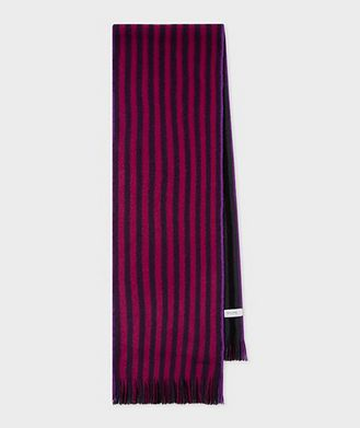 Paul Smith Reversible Striped Wool Scarf
