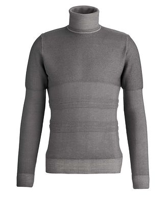 Fradi Wool Texture Knit Roll Neck
