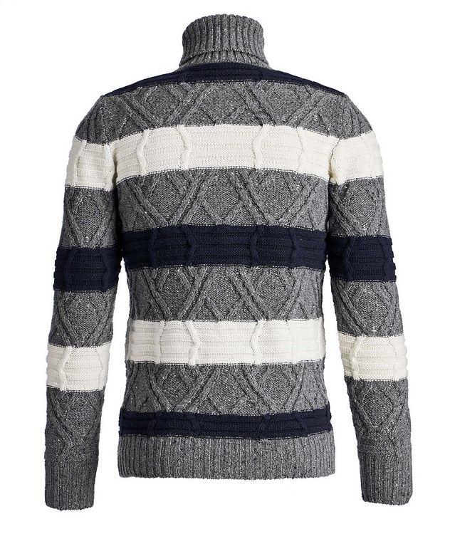 Wool-Blend Knit Striped Turtleneck picture 2