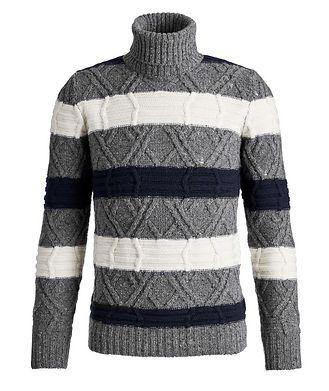 Fradi Wool-Blend Knit Striped Turtleneck