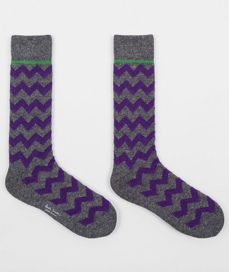 Printed Stretch-Cotton Socks image 1