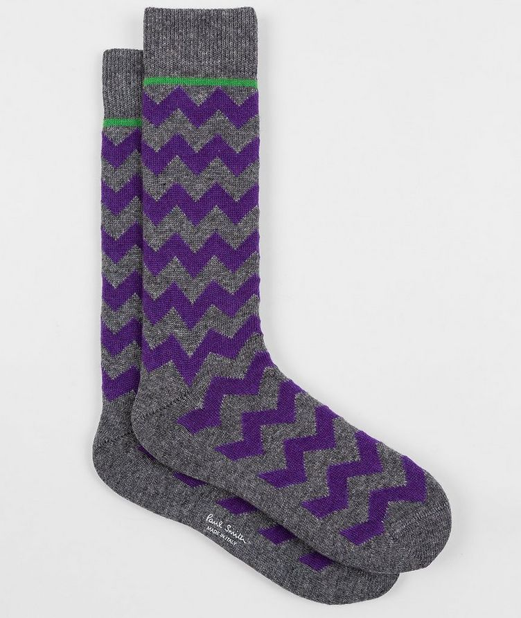 Printed Stretch-Cotton Socks image 0