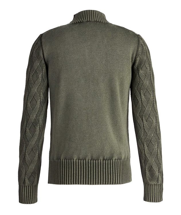 Frosted Dye Cable Knit Wool Mock-Neck picture 2