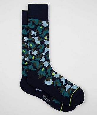 Paul Smith Printed Stretch-Cotton Socks