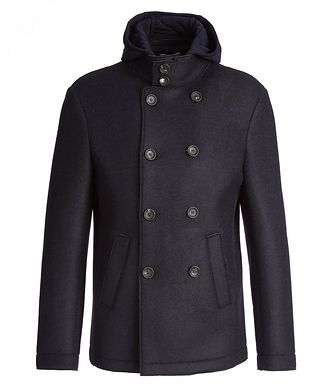 Fradi Warner Wool-Neoprene Peacoat