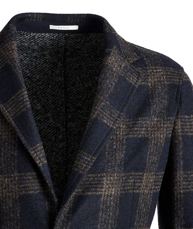 Postage Pocket Checked Wool-Blend Sports Jacket image 1