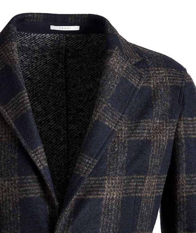 Postage Pocket Checked Wool-Blend Sports Jacket picture 2