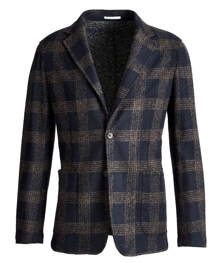 Postage Pocket Checked Wool-Blend Sports Jacket image 0