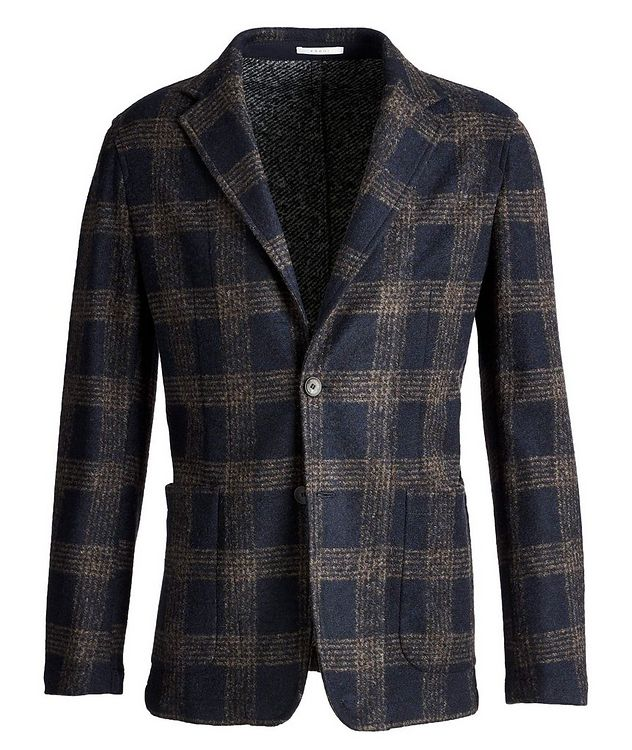Postage Pocket Checked Wool-Blend Sports Jacket picture 1