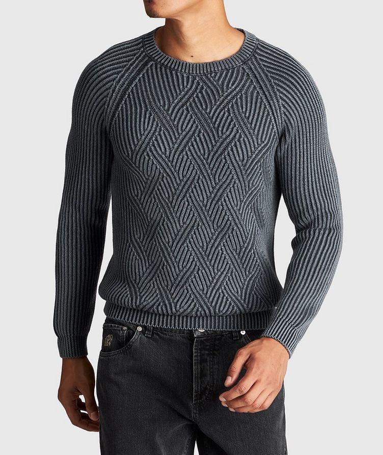 Pull en tricot torsadé de laine image 1