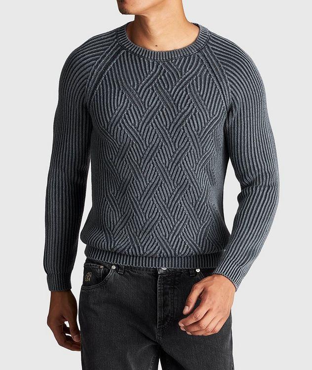 Pull en tricot torsadé de laine picture 2