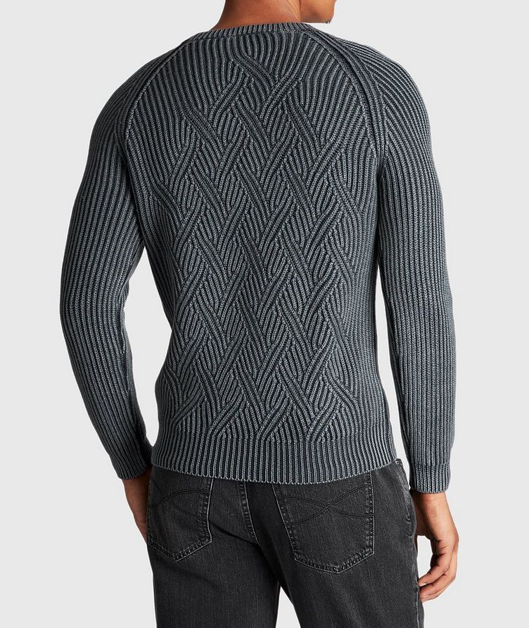 Cable-Knit Wool Sweater image 2