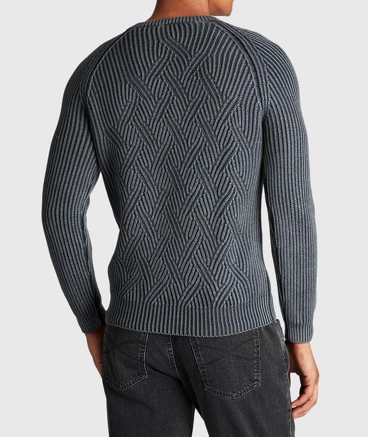 Pull en tricot torsadé de laine image 2