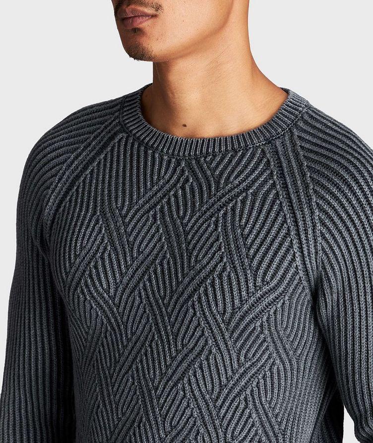 Pull en tricot torsadé de laine image 3