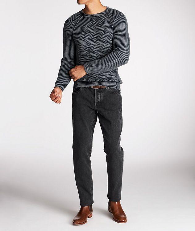 Pull en tricot torsadé de laine picture 5