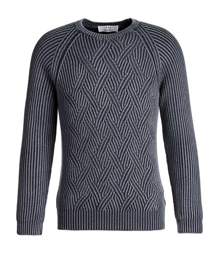 Pull en tricot torsadé de laine image 0