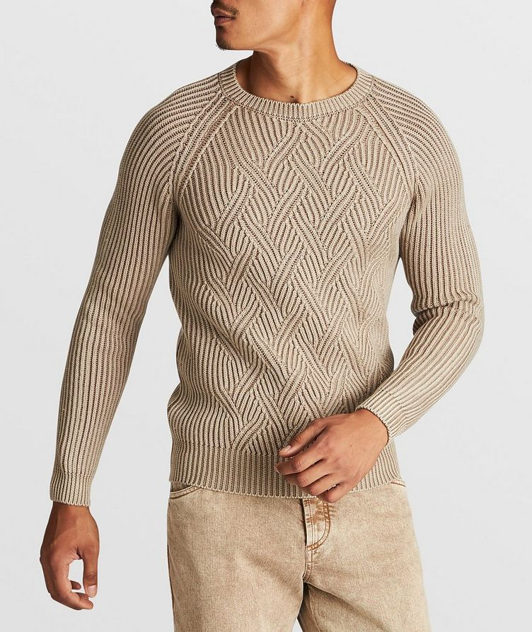 Cable-Knit Wool Sweater image 1