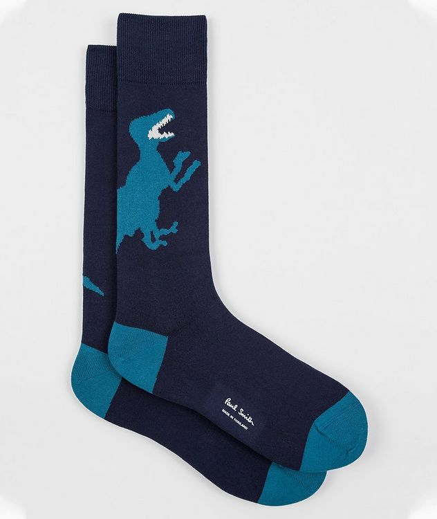 Printed Stretch-Cotton Socks picture 1