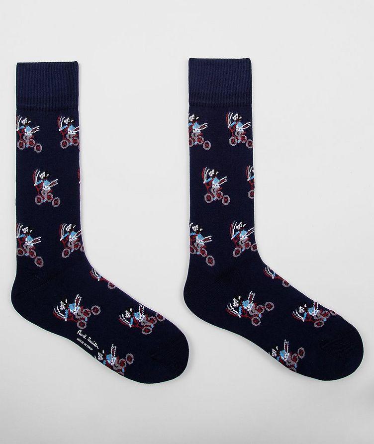 Printed Stretch-Cotton Socks image 1