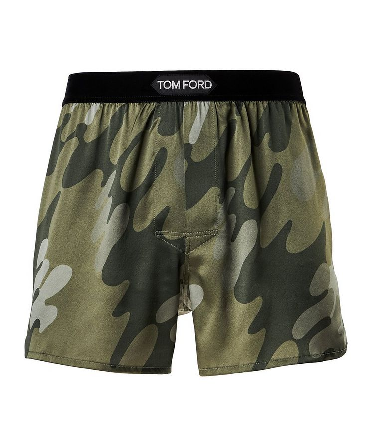 Printed Stretch-Silk Boxers image 0