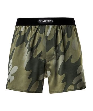 Tom Ford Printed Stretch-Silk Boxers