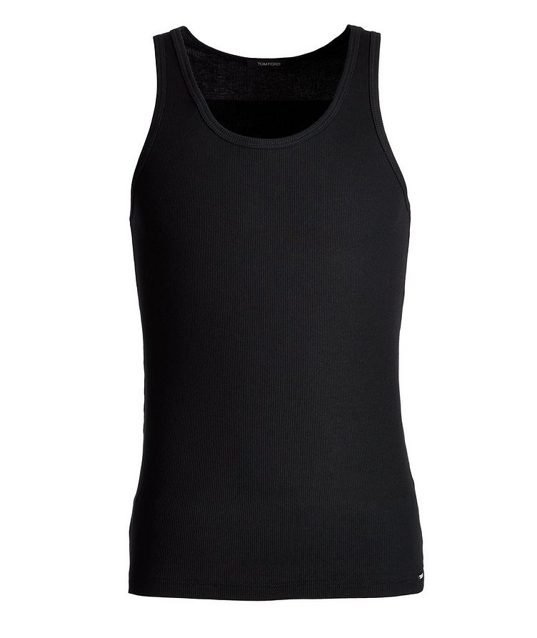 Ribbed Cotton-Blend Tank Top image 0