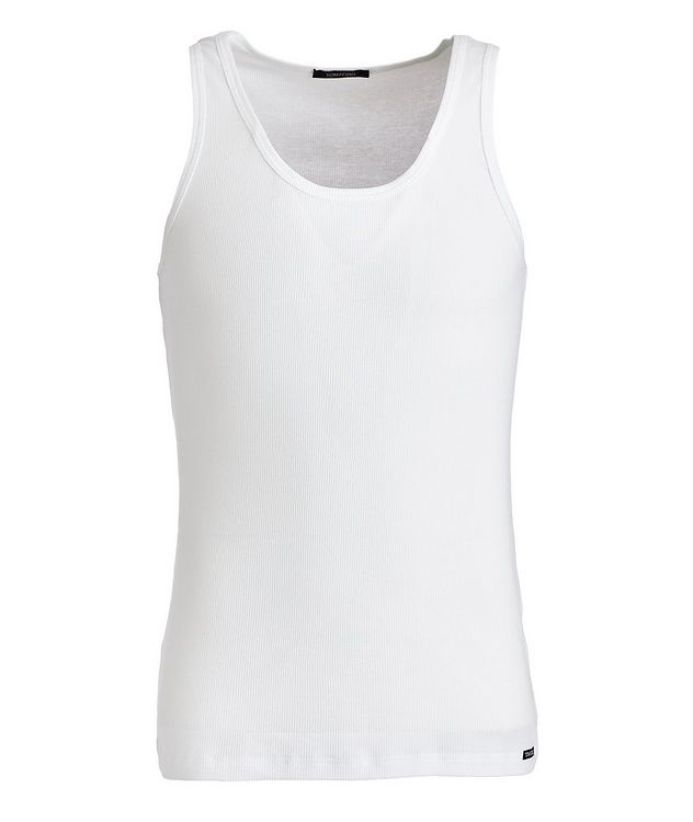 Ribbed Cotton-Blend Tank Top picture 1