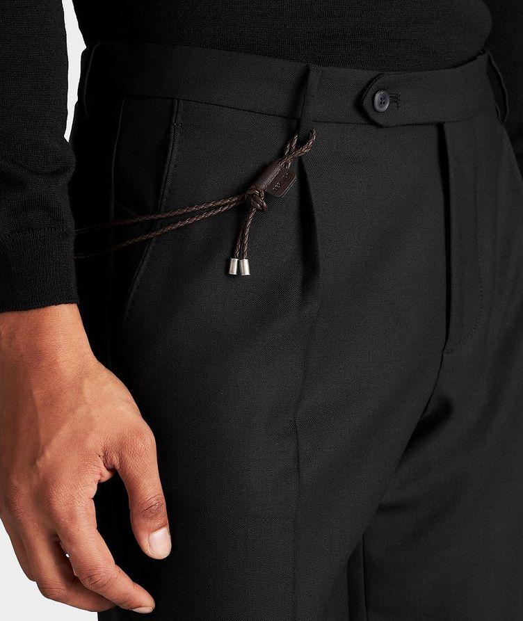Slim Fit Stretch-Wool Dress Pants image 3