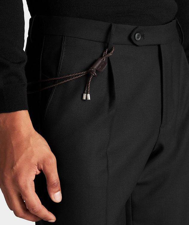 Slim Fit Stretch-Wool Dress Pants picture 4
