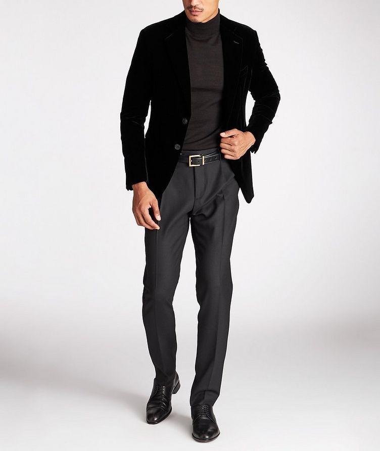 Slim Fit Stretch-Wool Dress Pants image 4