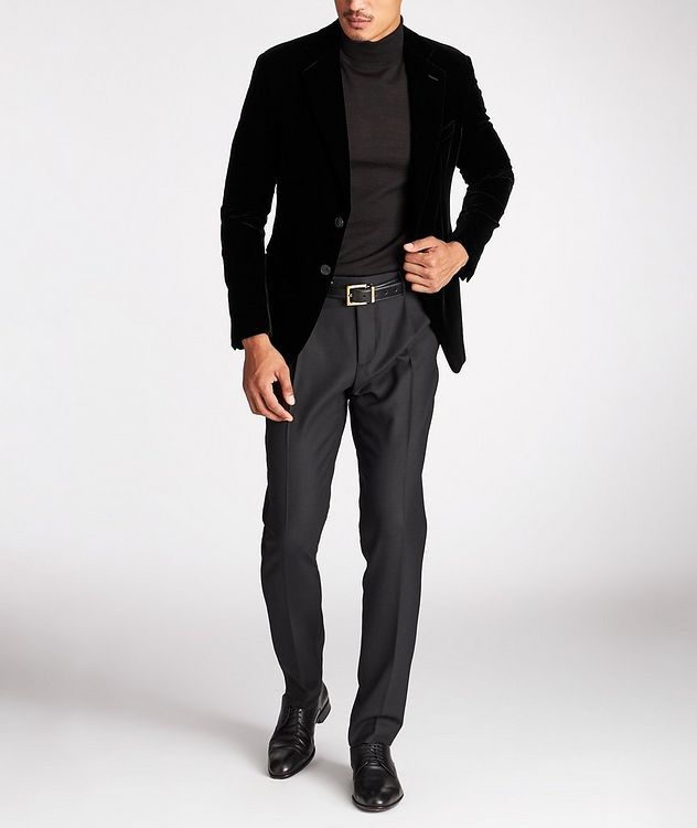 Slim Fit Stretch-Wool Dress Pants picture 5