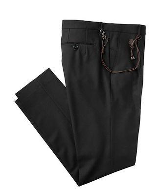 Berwich Pantalon habillé en laine extensible de coupe amincie