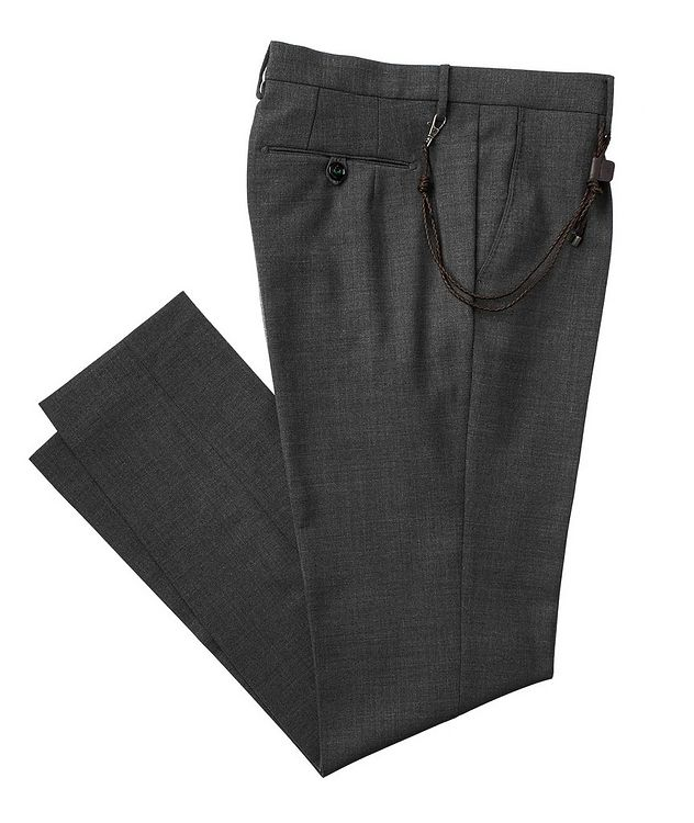 Slim Fit Stretch-Wool Dress Pants picture 1