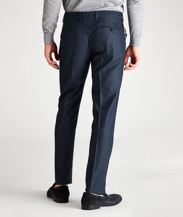 Slim Fit Checked Dress Pants image 1