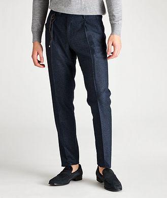 Berwich Slim Fit Checked Dress Pants