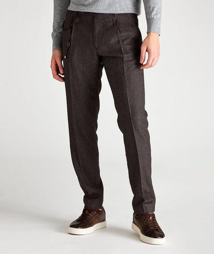 Slim Fit Birdseye Dress Pants image 0