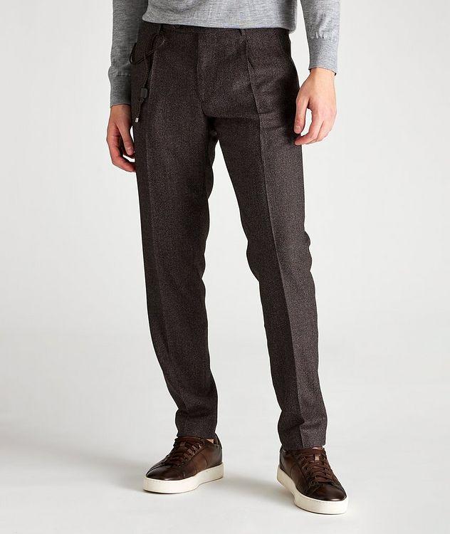 Slim Fit Birdseye Dress Pants picture 1