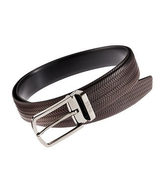 BOSS Travel Adjustable Leather Belt