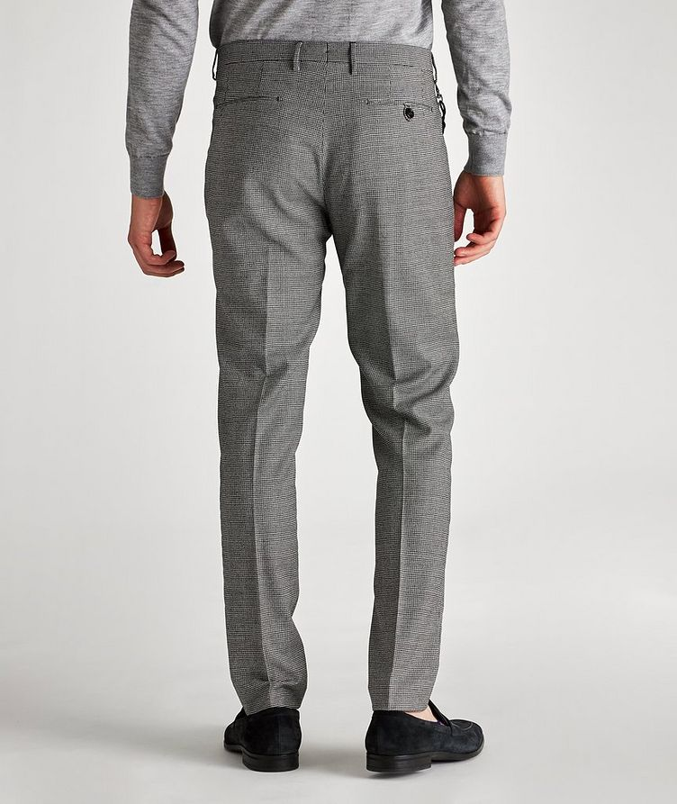 Morello Slim-Fit Houndstooth Wool Pants image 1