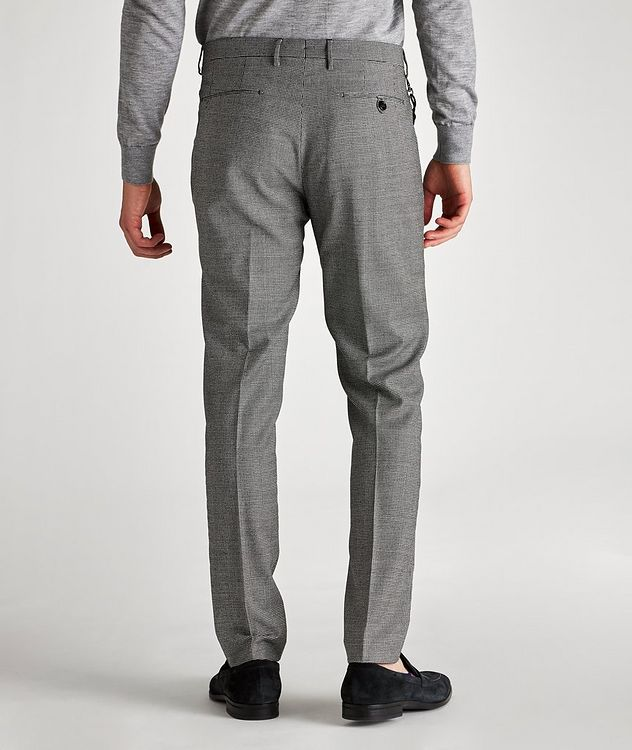 Morello Slim-Fit Houndstooth Wool Pants picture 2