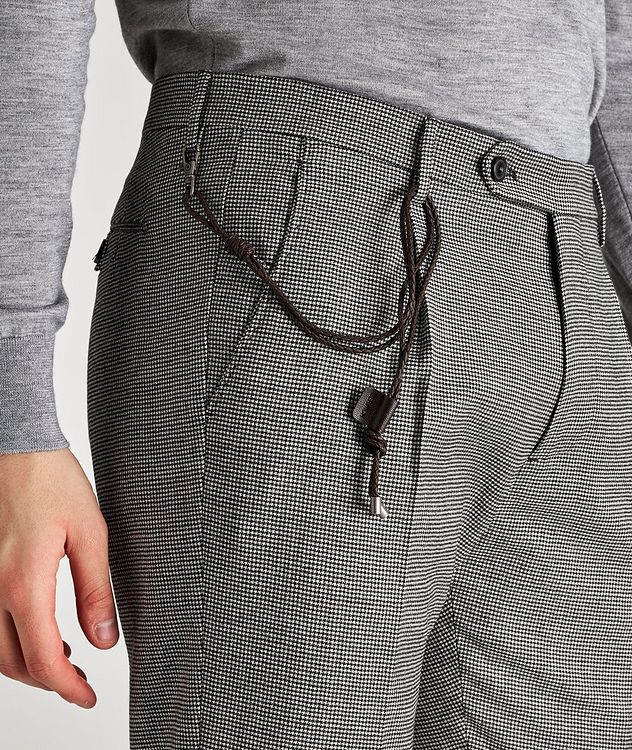 Morello Slim-Fit Houndstooth Wool Pants picture 3