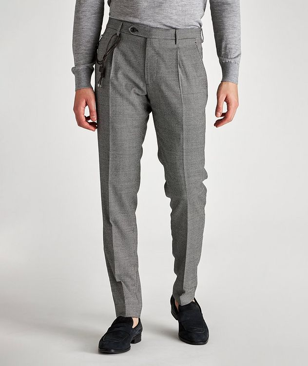 Morello Slim-Fit Houndstooth Wool Pants picture 1