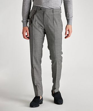 Berwich Morello Slim-Fit Houndstooth Wool Pants