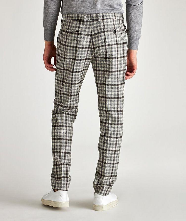 Morello Slim-Fit Checked Wool Pants image 1