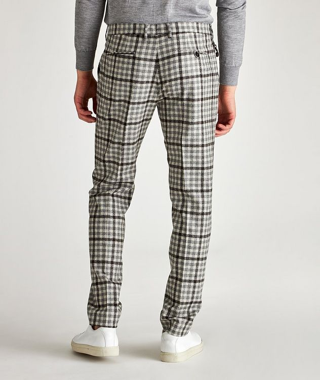 Morello Slim-Fit Checked Wool Pants picture 2