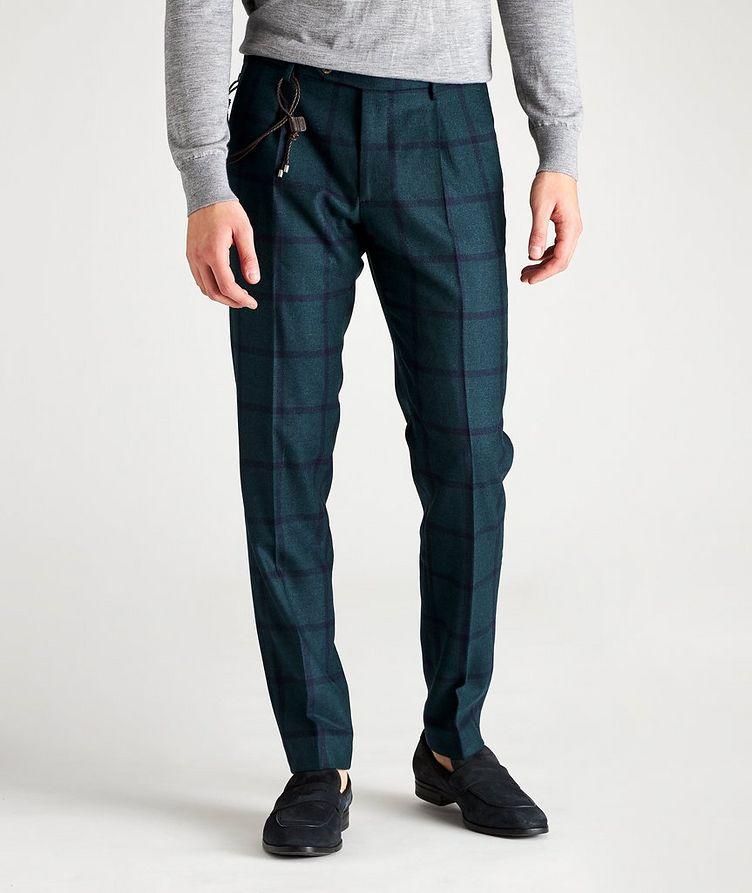 Morello Slim-Fit Windowpane Wool Pants image 0