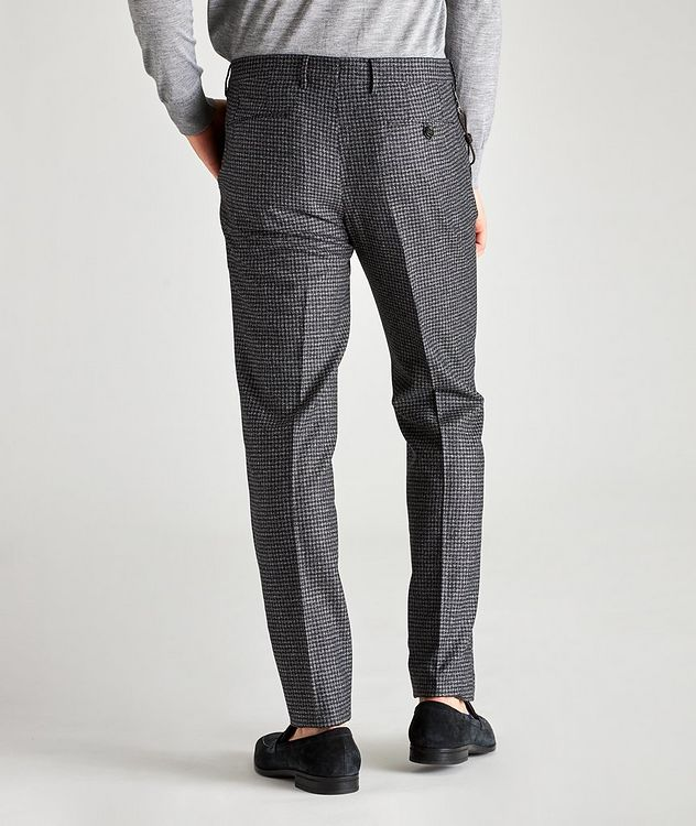 Morello Slim Fit Mini Check Wool Pants picture 2