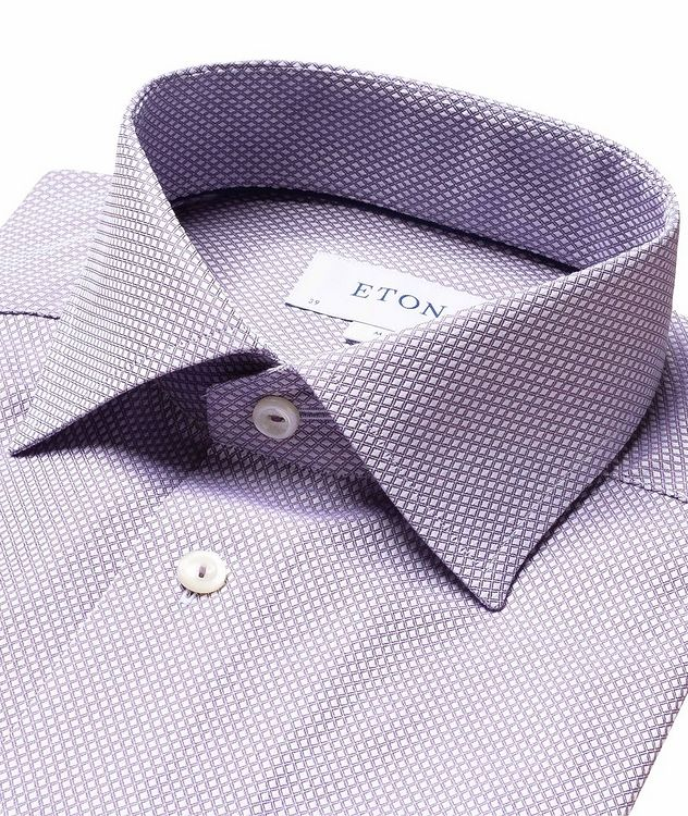 Contemporary-Fit Dobby Cotton Dress Shirt picture 2
