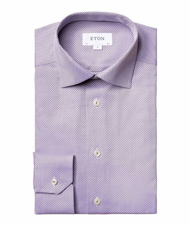 Contemporary-Fit Dobby Cotton Dress Shirt picture 1