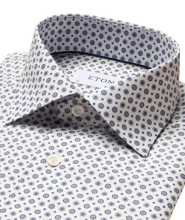 Contemporary-Fit Twill Cotton Dress Shirt picture 2